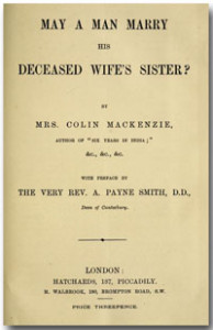 May a Man Marry His Deceased Wife's Sister